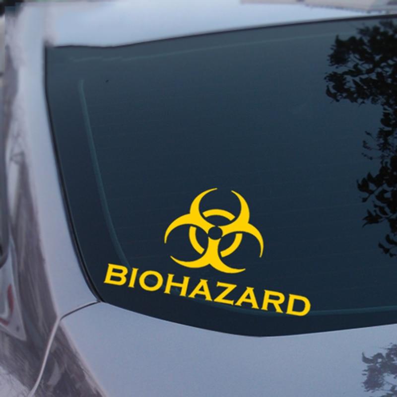 Umbrella BIOHAZARD decor car sticker,automobile vinyl window accessories stickers and decals,car decoration clear film