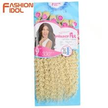 Mode Idol Afro Kinky Krullend Haar Weave Bundels 613 Blond Kleur Synthetische Hair Extensions Natuur Kleur 6 Pc 20 22 24 Inch Haar