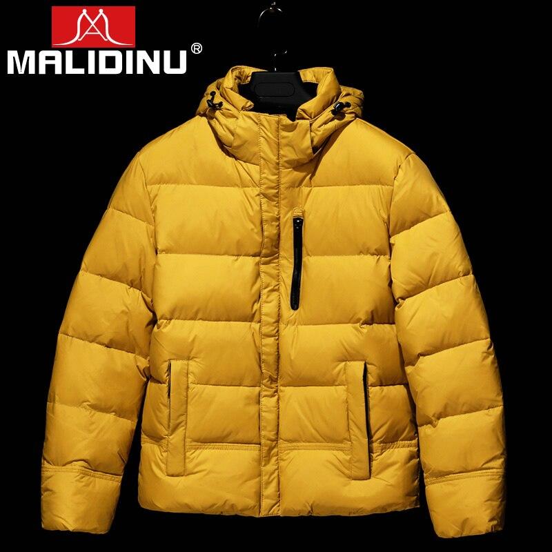 MALIDINU 2021 Duck Down Jacket Men Winter Down Coat Brand Thick Warm Winter Jacket Down Parka Men Down Jacket Shiny Windproof