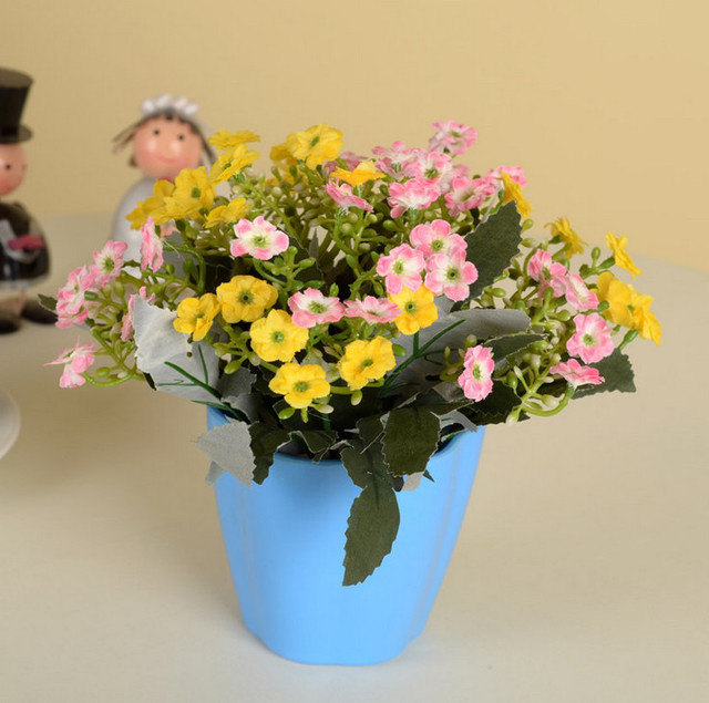 Free Shipping Candy Flower Pot with Artificial Fake Orchid Flower ...