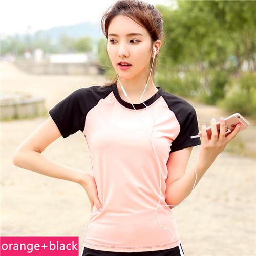 running - Ladies Yoga Gym Sport T-shirts Dry Quick Women's Running Short Sleeve T-shirts Fitness Clothes Tees tops