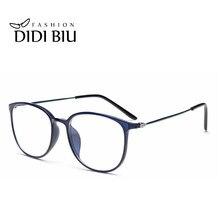 cd1f393d10ca90 DIDI Léopard TR90 Titane Lunettes Mince Cadre Femmes Hommes Objectif Clair Myopie  lunettes optiques spectacle montures