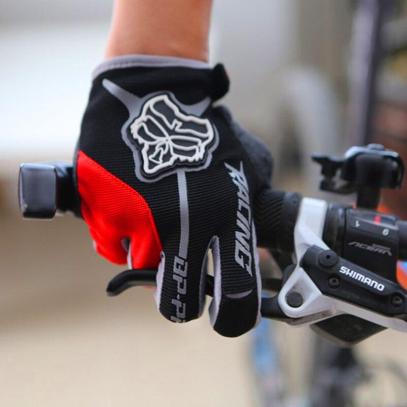 Prix pour Hommes de Plein Doigt Gants de Vélo Gel Pad Guantes Ciclismo Route Vtt VTT Gants Long Doigt Vélo Descente Gant