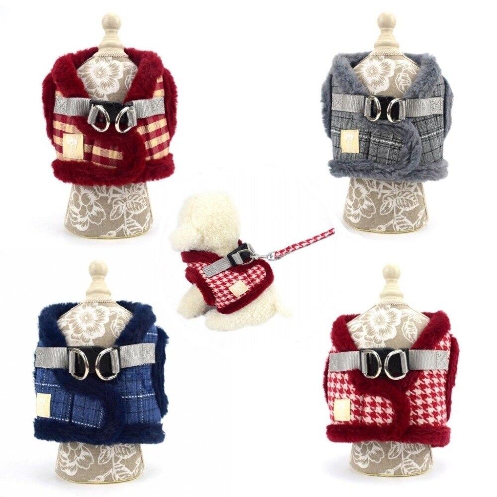 Chien Pet harnais hiver chaud polaire chien gilet harnais manteau laisse ensemble doux extérieur M L XL arnes perro harnais de chien