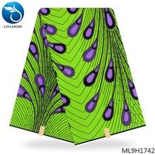 LIULANZHI lemon green african ankara wax high quality Dutch fabric Woven prints dutch batik ML9H1728-ML9H1749