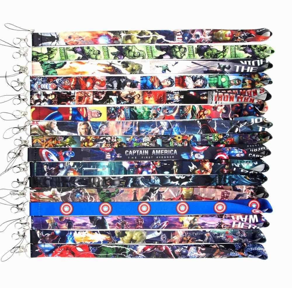 Marvel Мстители эндигра фигурка анимейрон человек Человек-паук Халк полиэстер шнур КЛЮЧИ телефон шеи ремень подарки горячие игрушки