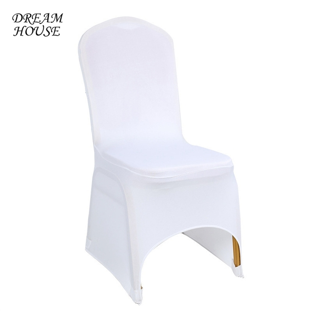 white universal chair covers rent chairs for event spandex weddings stretch long back cover banquet