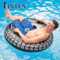 INTEX thickening adult swimming circle young lifeboy floating ring seat men and women Floating seat ring increased