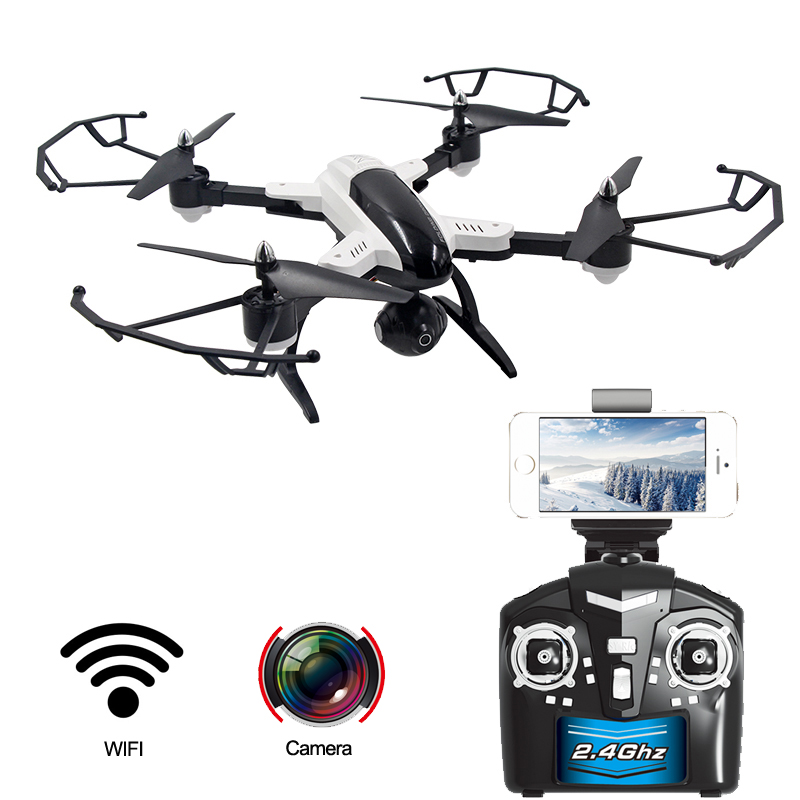 ФОТО 2.4G 6 gyroscope 0.3MP RC drone with camera RC Quadcopter with HD camera Wifi Real-time transmission FPV RTF height setting