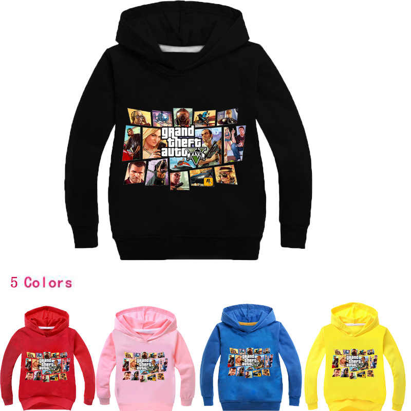 בני להאריך ימים יותר עבור בנות מכירה לוהטת Gta 5 נים רחוב להילחם עם Gta 5 תחפושות בגדי ילדים של ילדים Teen חולצות 100-170
