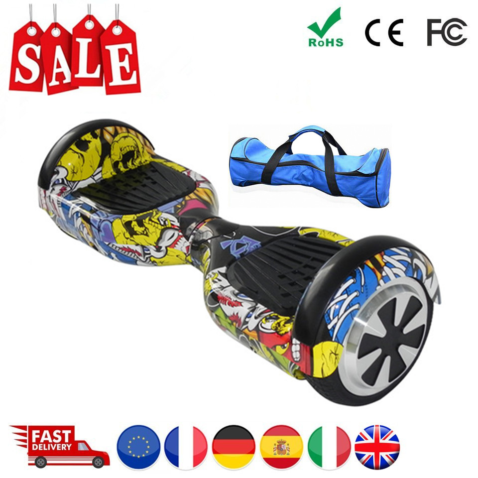 EU Warehouse Hoverboard 6.5 Inch Electric Scooter Electric Skateboard Electric Board Hover Board Smart Balance Board Oxboard