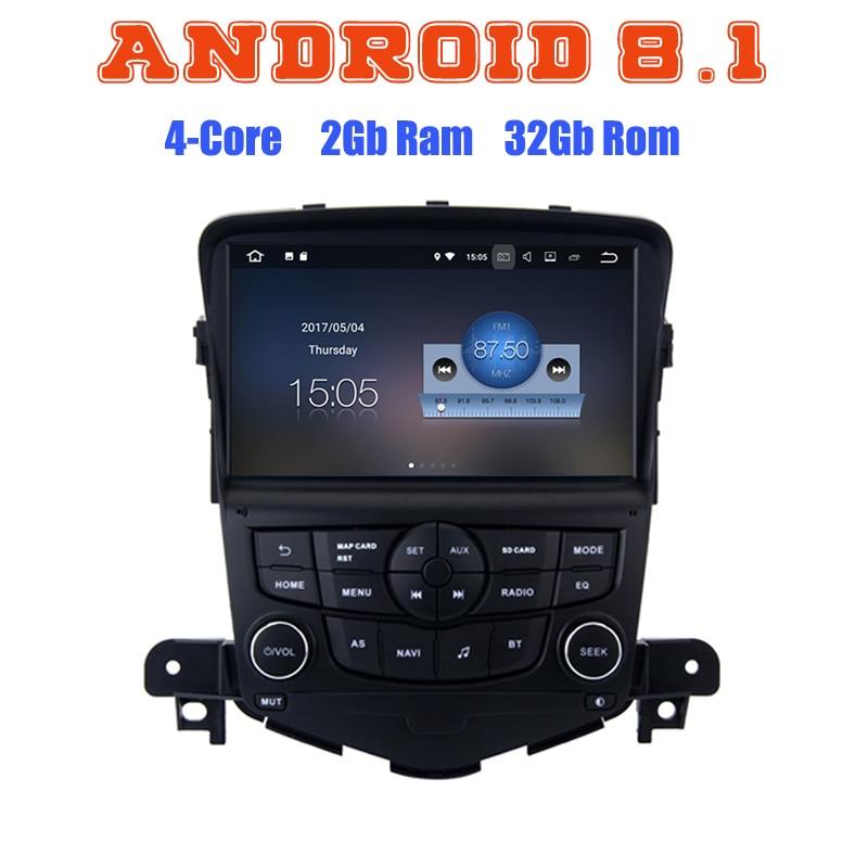 Pour Chevrolet Cruze 2008-2012 Android 8.1 Quad Core autoradio GPS lecteur multimédia avec canbus 2 + 16G wifi 4G usb bluetooth
