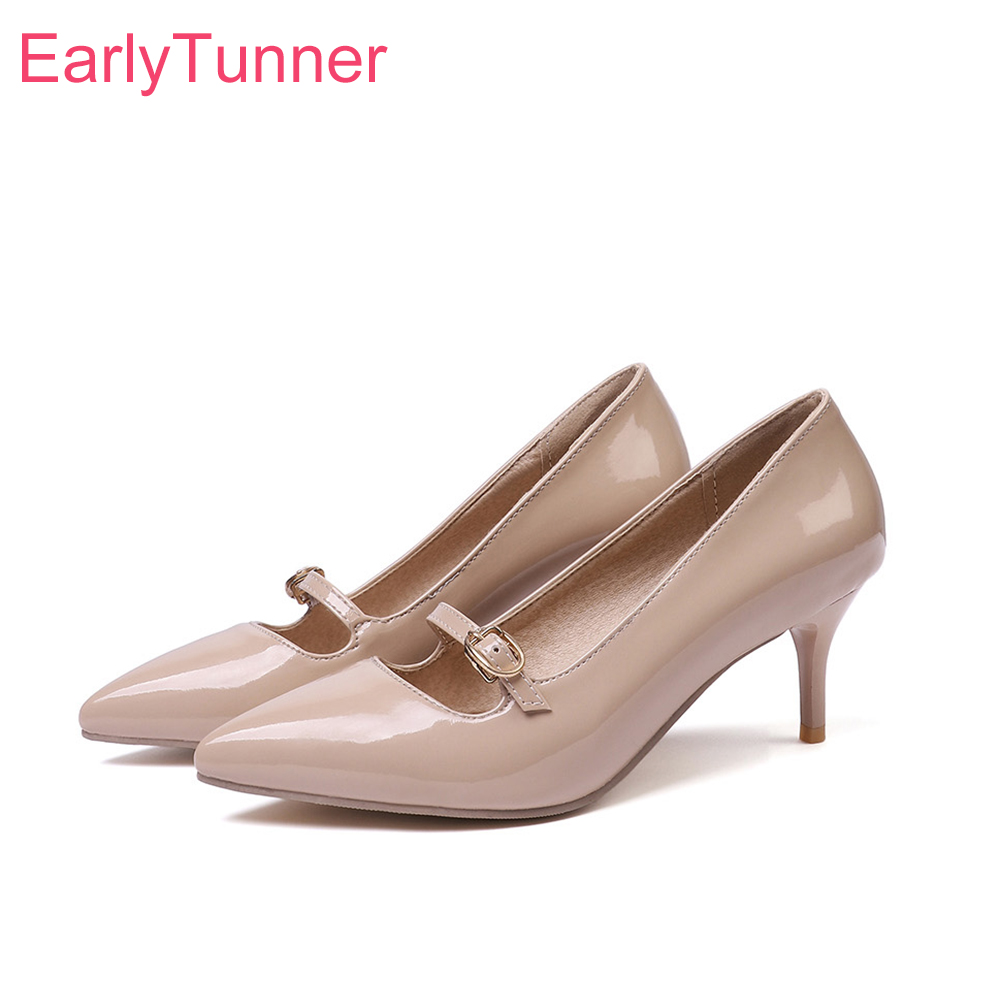 2019 Brand New Glamour Apricot Red Women Wedding Pumps Sexy Lady