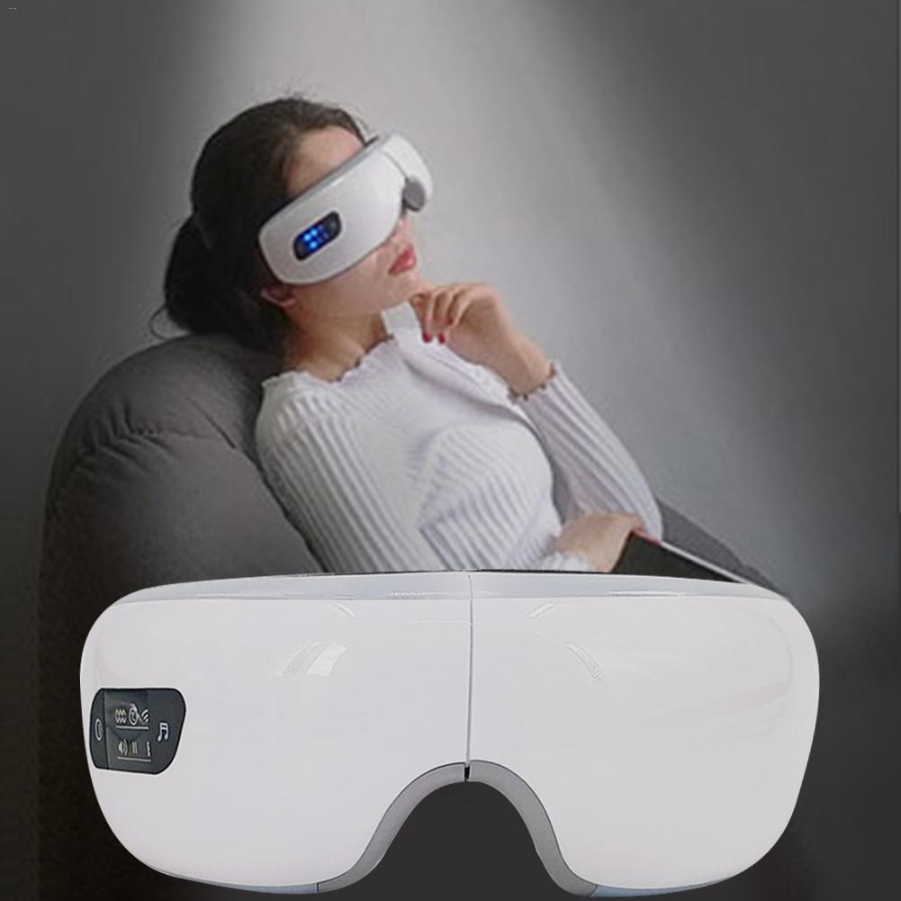 Vibration Electric Eyes Care Device T820 Chargable USB Eye Massager With Bluetooth Foldable Hot Compress Eye Massager Wrinkle S3