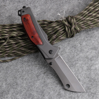Folding Knife Tactical Combat Pocket Utility EDC Rescue Knives Hunting Camping Multi Tools Aluminum + Wood Handle 440C Blade|Knives|Tools -