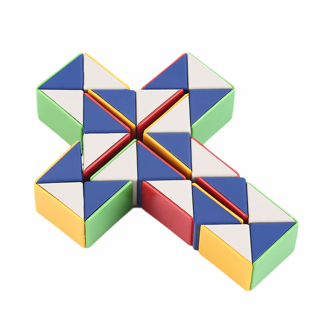 OCDAY HOT ! Snake Magic 3D Cube Game Puzzle Twist Toy Party Travel Family Child Gift Good for Promoting Children's Intelligence