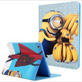 Hot selling minion case for Ipad air 1 high quality pu leather&tpu material smart holder cover for Ipad 5 A1474 A1475 A1476