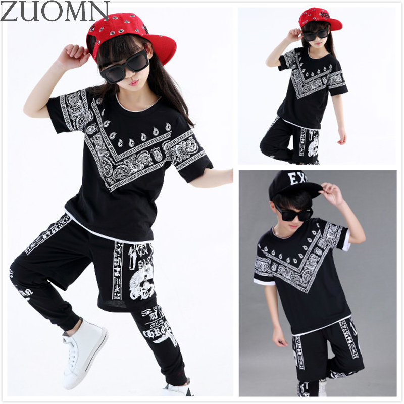 Children Hip-hop Jazz Dance Clothes Suit Boys Girls Performance Clothing Kids Street Costume Clothes Sets Hip Hop YL481 new kids dancewear set boys girls sequined stage performance costume modern jazz hip hop dance wear top