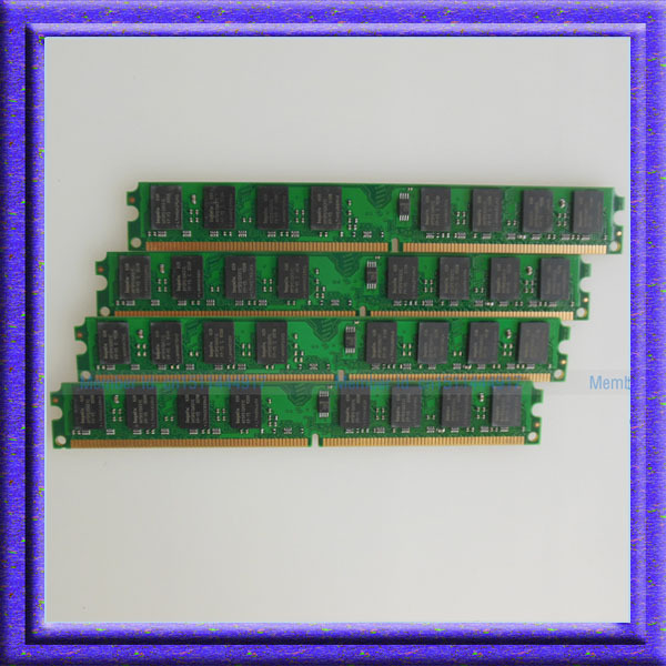 4 ГБ 4x1 ГБ PC2-4200 DDR2-533 533 МГц 240-конт DIMM Рабочего Низкой плотности Памяти 4 х 1 г ddr2 533 NON-ECC RAM Бесплатная Доставка