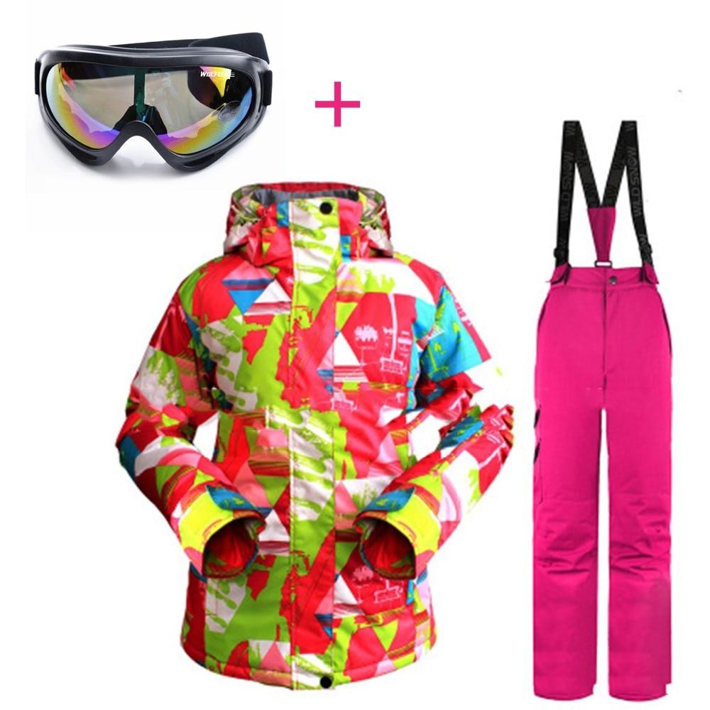 Nouveau professionnel hommes femmes Ski costumes vestes + pantalon chaud hiver imperméable Ski snowboard vêtements ensemble marque verre gratuit