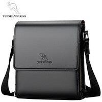 YUESKANGAROO Mens Shoulder Bags For Business Handbag Messenger Crossbody Hand Bag Man 2018 Leather Sacoche Homme Luxury Brand