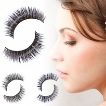 Newest Fake False Eyelashes Extension Mink Natural Cross Natural Thick False Long Black Eye Lashes