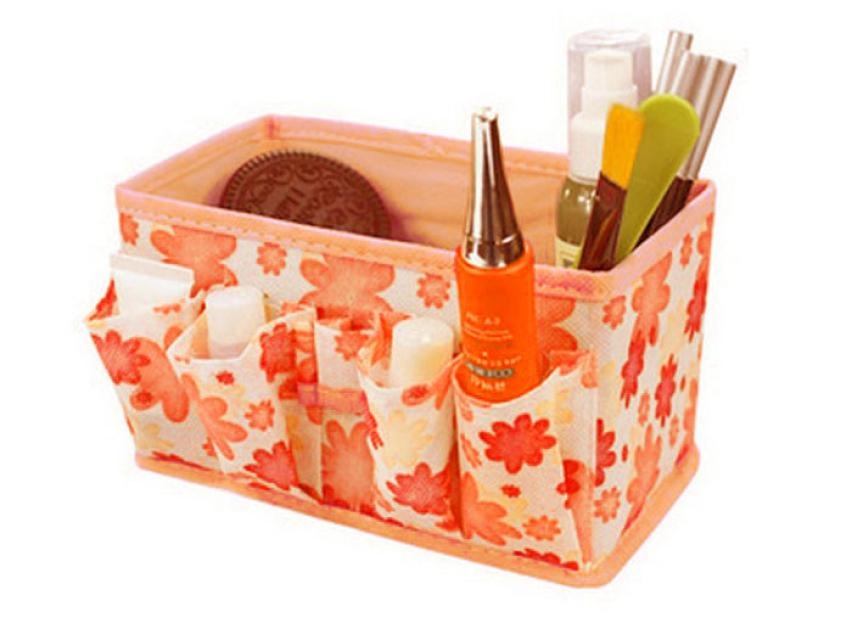 2018 hot sale make up popular Makeup Cosmetic Storage Box Bag Bright Organiser Foldable Stationary a Container 18Mar 31