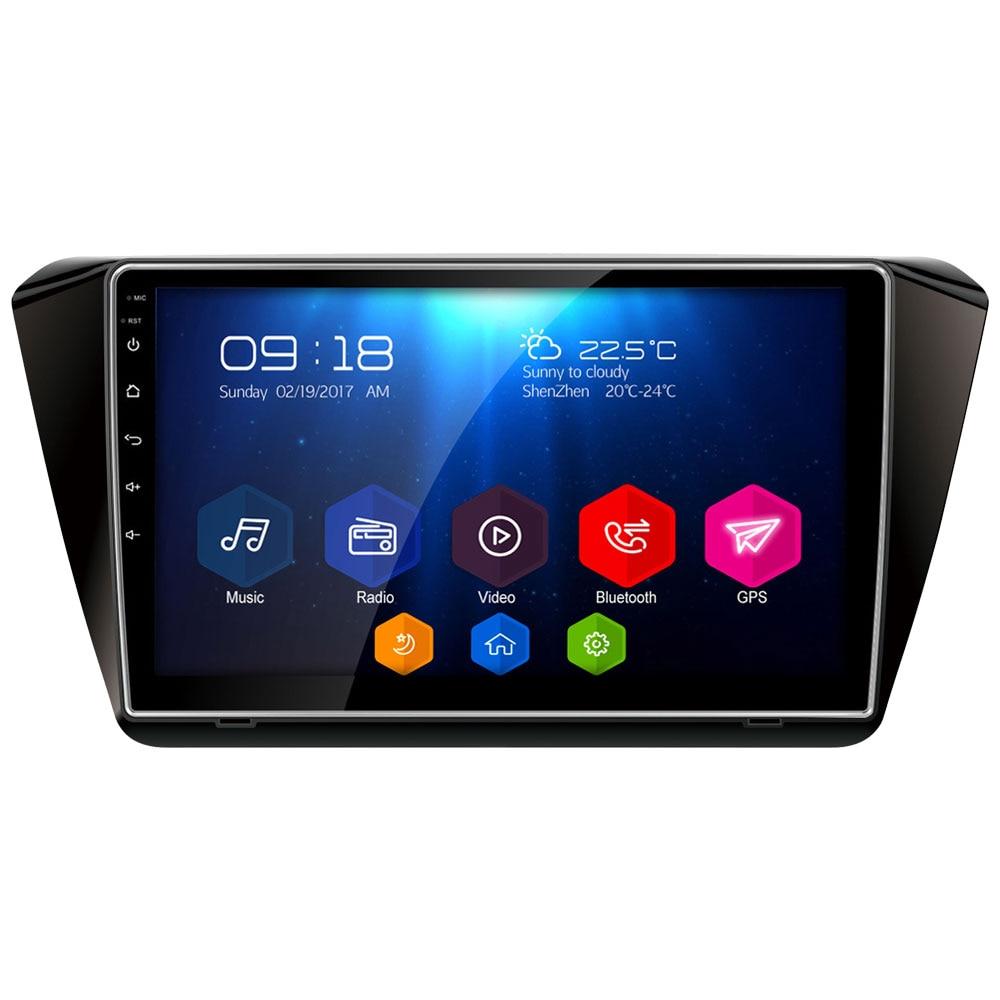 10.1 IPS WIFI Android 8.1 Octa Core 2 GB RAM 32 GB ROM RDS BT FM SUIS dvd de voiture lecteur multimédia stéréo Pour Skoda Rapid 2013-2019