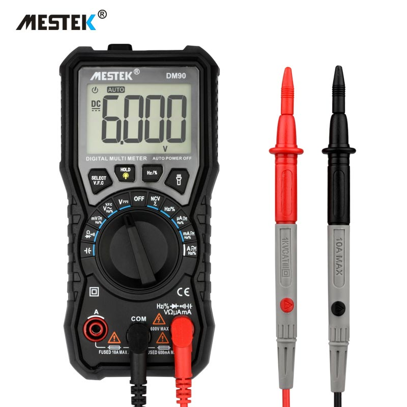 MESTEK DM90 mini-multimeter digital multimeter auto range tester multimetre besser als pm18c multi meter multitester