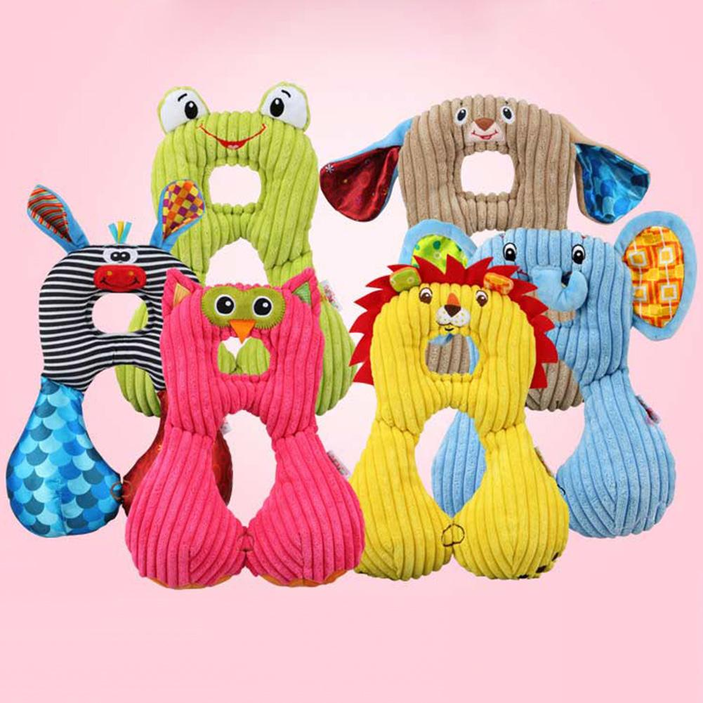 Lovely Cartoon Animal Baby Infant Head Neck Protection Car Travel U-shape Pillow For Bay Neck Care And Safety