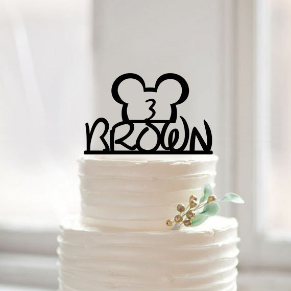 Happy Birthday Cake Topper,Baby Shower Cake Topper with Cute Cartoon,Custom  Name Number Cake Topper, Birthday Party Decorations