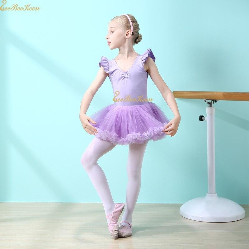 Ballet Leotard Gymnastics Leotard Ballet Dress Dance Costume Long/short Sleeve Pink/purple Ballet Tutu Dance Wear For Girl