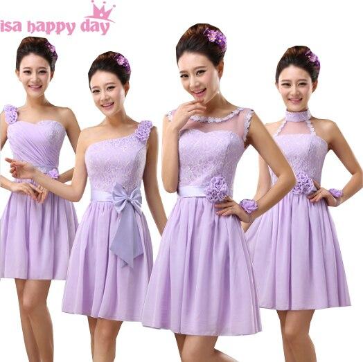 2019 fashion lilac chiffon purple   bridesmaid     bridesmaids     dresses   girls cheap bridesmades woman   dress   short sleeveless B3781