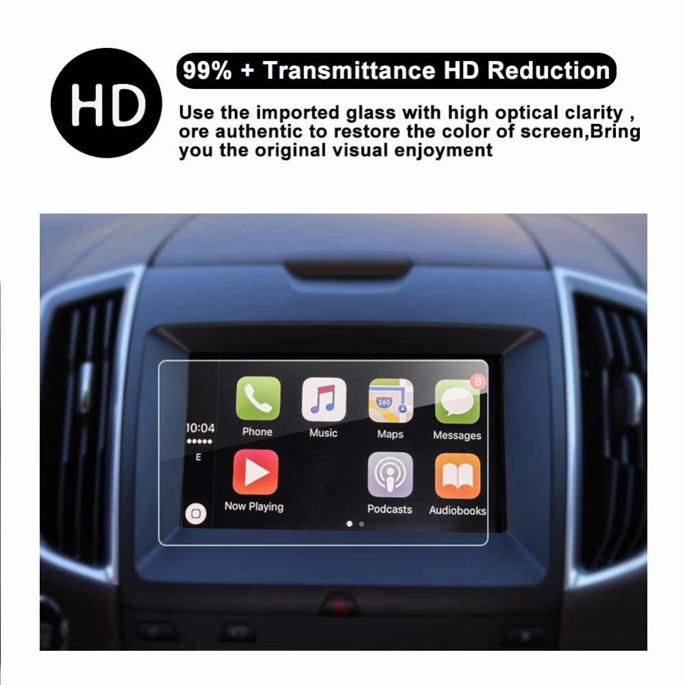 Car display Tempered Glass Screen Protector for Ford Explorer 2016 2017(8.0inch)