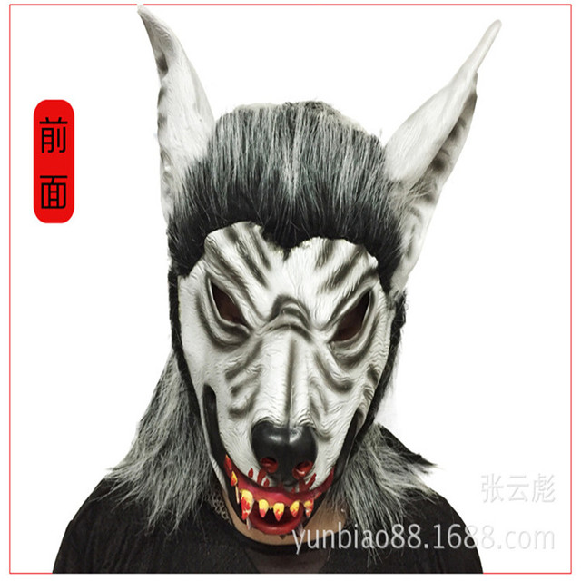 1e69f8e75faf 2017 New Scary Werewolf Halloween Mask Big Bad Wolf Mask Adult Full Head  Wolf Head Mask Costume Accessory Party Face Masks Toys