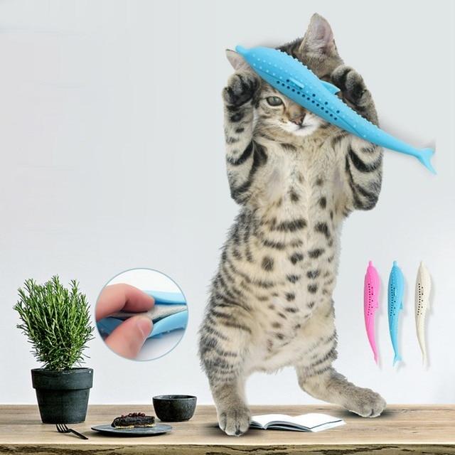 Soft Plush 3D Carp Fish Toy With Catnip 2
