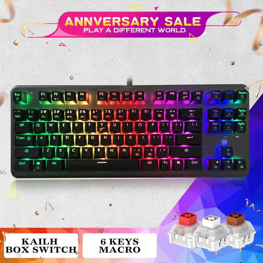 365ea13b98e HEXGEARS GK757A Mechanical Keyboard RGB Backlight Clavier Gamer 87 Keys PBT  Keycap Gaming Keyboards Kailh Switch Gamer Keyboard