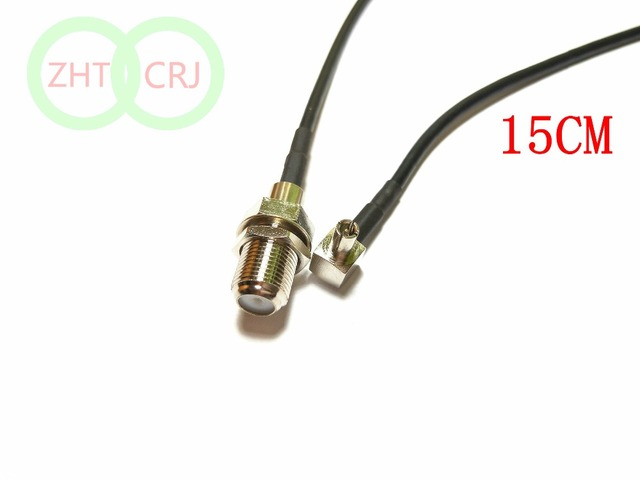 50pcs/100pcs TS9 male to F female nut bulkhead RG174 Jumper cable 15cm