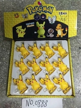 Hot sale 3sets/36Pcs ABS classic Action Anime Figures Pokemon go sprocket chain doll for  Kids Gift 0888