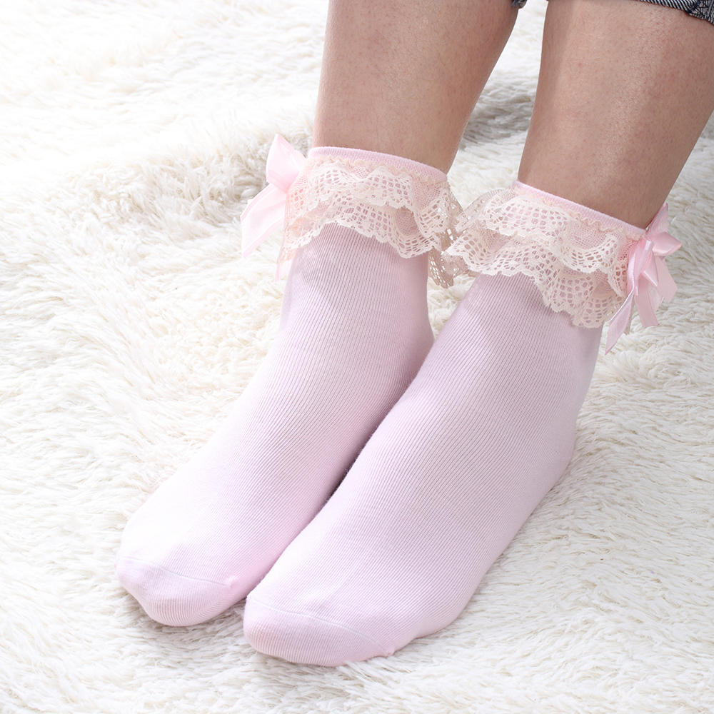 1Pair Cute Baby Girls Lace Ruffle Frilly Ankle   Socks   Sweet Princess Soft Cotton Autumn Winter Party Christmas Short   Socks