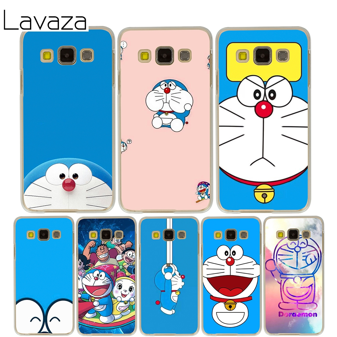 Lavaza Doraemon Case for Samsung Galaxy A3 A5 2015 2016 2017 A8 Plus 2018 Note 8 5 4 3 2 Grand 2 Prime