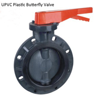 DN32 CPVC Plastic Butterfly Valve, Wafer type PVDF Butterfly Valve, UPVC Wafer Type Butterfly Valve For Corrosion resistance