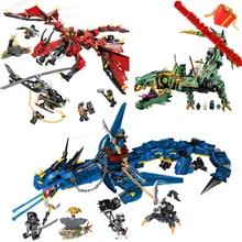 Ninjagoo Летающий мех Дракон строительные блоки, совместимые с Legoings кирпичи игрушки модель ниндзя фигурки подарки для мальчиков день рождения