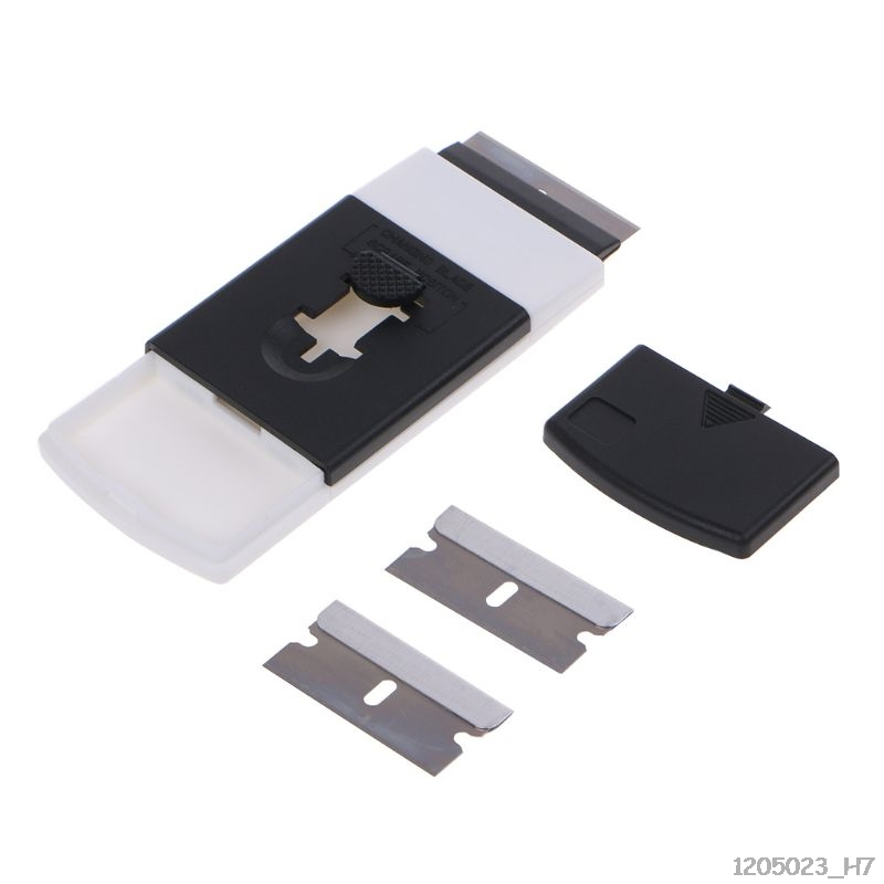 Plastic Handle Car Sticker Remover Razor Scraper Ceramic Glass Oven Window Spatula Tools