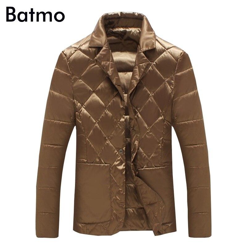 Erkek Kıyafeti'ten Şişme Ceketler'de Batmo 2019 yeni varış kış yüksek kalite 90% beyaz ördek aşağı ceket erkekler, erkek kış sıcak tutan kaban, artı boyutu M 5XL Y1104'da  Grup 1