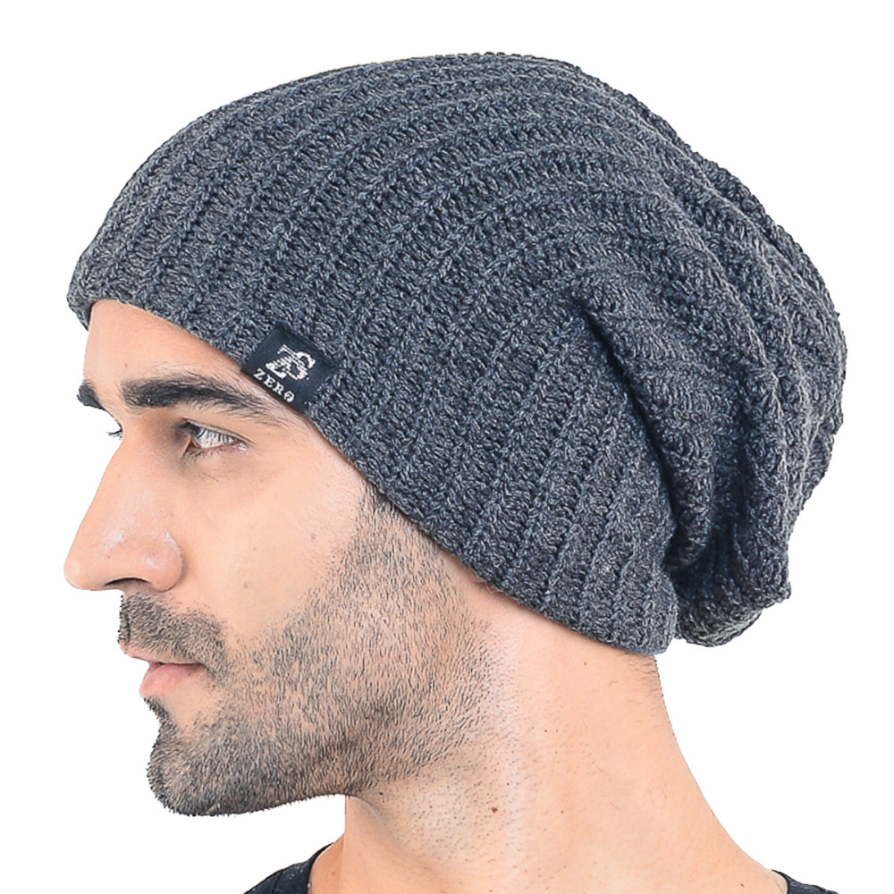 fc7cd06bd53 HISSHE Mens Slouchy Beanie Classic Long Baggy Oversize Skull Cap Bonnet  Knit Warm Soft Ski Winter Hat-in Skullies   Beanies from Apparel  Accessories on ...
