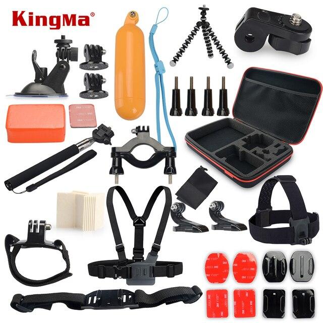 Kingma accesorios set go pro kit de montaje sj4000 gopro hero 5 hero 4 3 2 1 negro edición sjcam sj5000 m10 caja xiaoyi pecho trípode