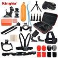 Kingma acessórios set go pro kit montagem sj4000 gopro hero 5 hero 4 3 2 1 black edition sjcam sj5000 m10 caso xiaoyi peito tripé