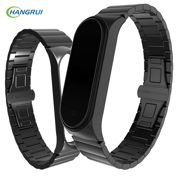 Stainless steel Metal Strap For Mi band 4 Bracelet Accessories For Xiaomi Mi Band 3 Wrist strap Miband 4 Metal straps wristband
