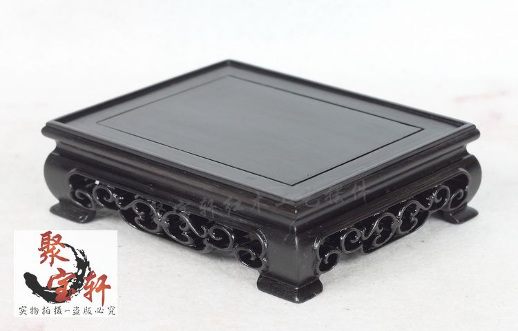 Square base ebony wood carving household act the role ofing is tasted Buddha vase stone arts and crafts household act the role ofing is tasted mahogany wood carving handicraft circular base of buddha stone are recommended
